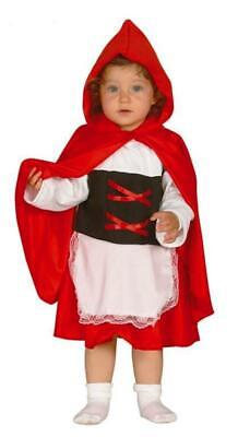 CARNEVALE HALLOWEEN VESTITO CAPPUCCETTO ROSSO LITTLE RED RIDDING HOOD 6/12 MESI (Little Red Ridding Hood Costume)