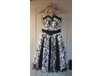 Black & White Sixties style dress