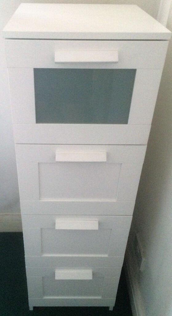 Ikea Brimnes Chest Of 4 Drawers In White Assembled In