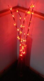 Large STAINED GLASS VASE + L.E.D. Lights £7