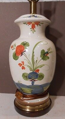 rare Frederick Cooper blue carnation lamp, Italian?