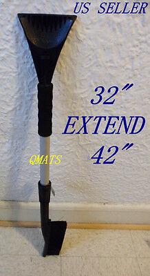 "Car Vehicle Snow Ice Scraper Removal Brush Shovel 32"" Extender 42"" ( HEAVY DUTY)"