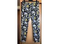 Size 14 blue floral trousers