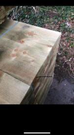 Treated timber sleepers