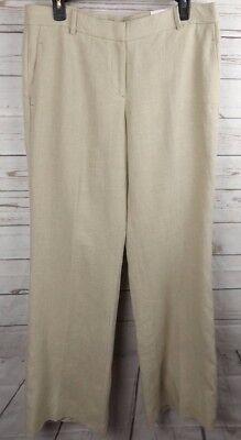 New Ann Taylor Loft Linen Pants Size 8 Beige Marisa Modern Cut