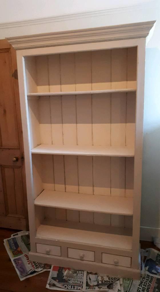 Vintage Shabby Chic Bookshelf Bookcase Dresser Cupboard