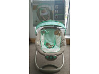 INGENUITY FAUX SUEDE GENTLE AUTOMATIC BOUNCER - Mint condition - RRP £60