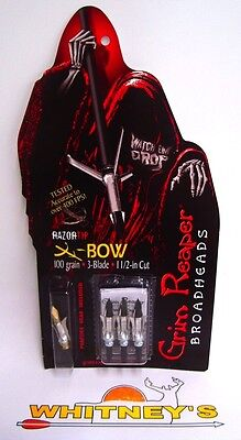 "Grim Reaper Razor Tip Crossbow Broadheads - 100 Grain 1 1/2"" Cut - #1973"