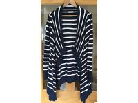 Jojo Maman Bebe size small Breton striped 4-in-1 blue and white £12