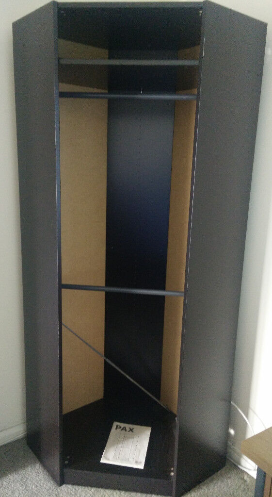 Black Corner Wardrobe - 90% OFF!!!