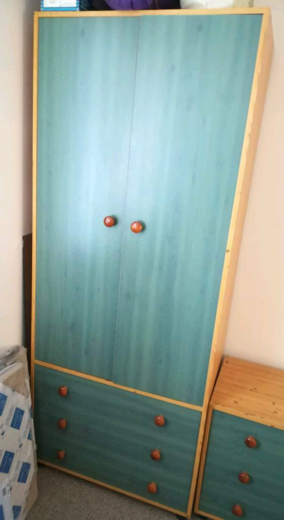 Wardrobe, 3draw chest and Bedside cabinet