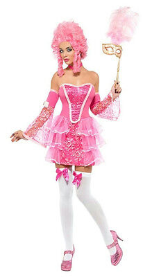 Fever Pink Marie Antoinette Fancy Sparkle Womens Masqerade Ball Costume Small