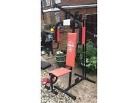 YORK 401 MULTI GYM + BOXING GLOVES BARGAIN MUST SEE LOOK !!!