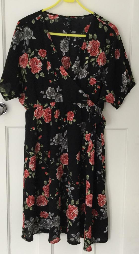Women's Clothing Dresses New Look Floral Dress Size 14
