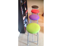 4 X stool multi colour top purple green red black Ness Made in England