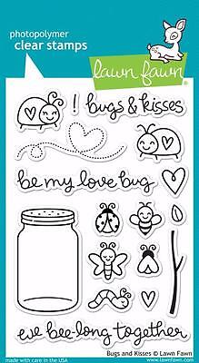 Bugs And Kisses (Lawn Fawn Clear Stamp Set  (17)  BUGS AND KISSES)