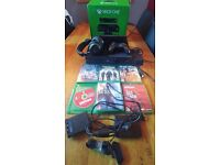Xbox one 500GB ,1TB samsung HDD,Kinect,Turtle beach wireless headset and 6 games