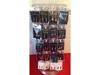 NEW WHOLESALE JOB LOT JEWELLERY CRYSTAL EARRINGS ON STAND