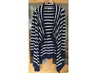 JoJo Maman Bebe Breton Stripe 4-in-1 Maternity Cardigan size small £15