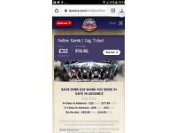 ALTON TOWERS SATURDAY TICKET IN THE SUMMER HOLIDAYS