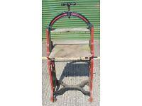 Cast iron mangle conversion-mobile bird table-BBQ table-storage unit