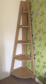 NEXT oak veneer shelf unit