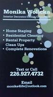 RESIDENTIAL CLEANING/ RENTAL PROPERTY CLEAN UPS