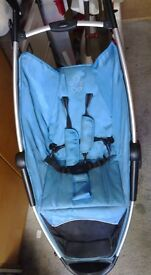 CAN DELIVER Petite ZIA baby child compact fold turquoise blue pushchair stroller pram basket storage