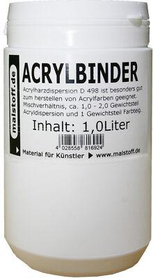 1 Liter Acrylbinder D498 für Acrylfarben oder Stukturpasten
