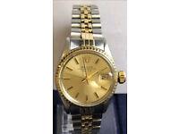 Genuine Rolex Ladies Gold & Steel OysterDate 6917