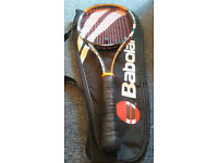 2 Tennis Rackets Babolat AeroPro Drive & Pure Storm with New Strings