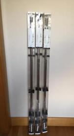 Three NEW Stainless Steel Effect Extendable Curtain Poles