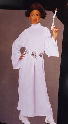 Girls Star Wars The Last Jedi PRINCESS LEIA Halloween Purim Costume Sm Med NEW