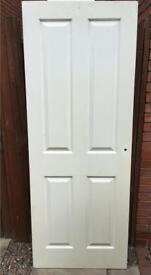 White wooden internal door