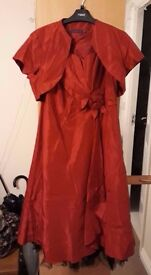 Red Debut Dress and Bolero - Size 12 - £40 ONO