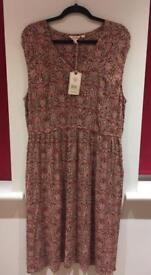 BNWT Kate Indian summer Midi rustic red Fat Face dress size 16