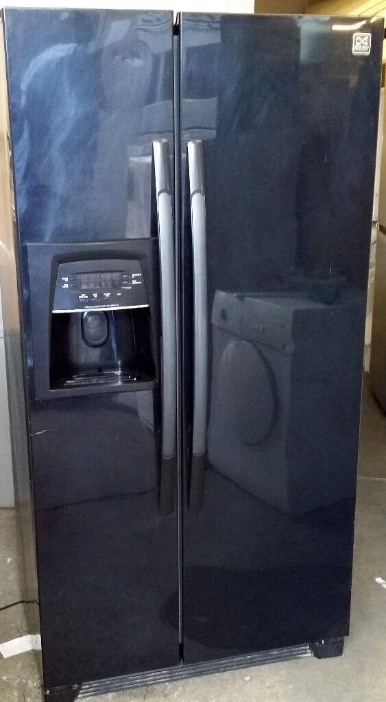 Black DAEWOO American Fridge Freezer With Water Dispenser+Ice Maker