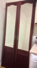 TWO SCHRIEBER BEVELLED-MIRRORED DOORS