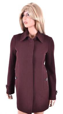 New Burberry Brit $895 Burgundy Red Wool Cashmere Swing Coat Jacket 12 46