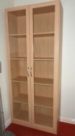 Beech Tall Display Cabinet