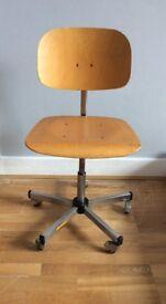 Vintage retro swivel office desk chair