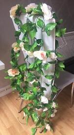 4 80inch silk rose garland flower vine wedding decorations