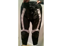 Frank Thomas leather bikers trousers