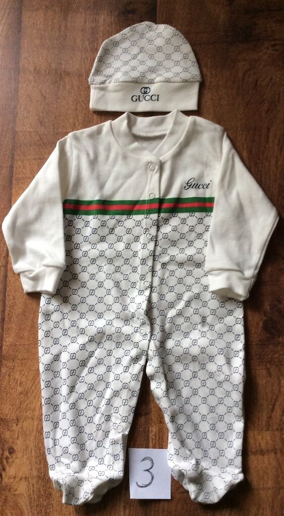 Last 2 Baby Gucci Baby Grow And Matching Hat 0 3 Months