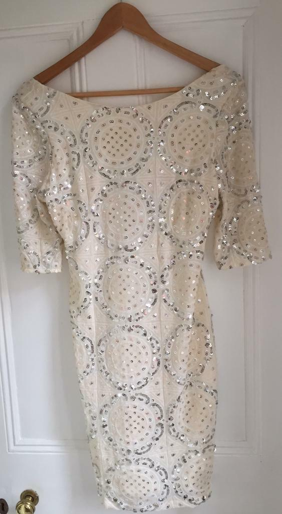 River Island Sparkly Midi Dress (size 12)