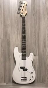 Bass Guitar for beginners 4 string White Full size Brand new