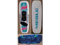 Mesle TRC Waterski (Trick Ski). 'The Boote' Binding. Mesle Bag.