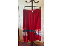 Vintage Tommy n loulou red maxi skirt L