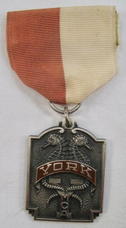 York YMCA 1967 Aquatic Club Medal Ribbon Badge Award 200 Yard Medley Boys (O)