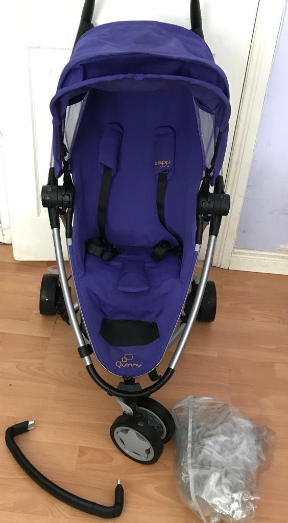 Quinny Zapp Xtra 2 purple buggy/pushchair/Pram+Raincover&Handle